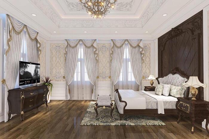 Không gian nội thất phòng ngủ master