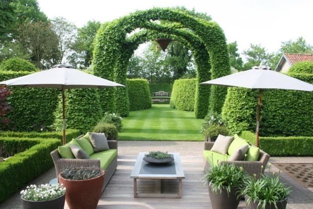 Thiết kế sân vườn Châu Âu cho mẫu biệt thự đẹp - 4