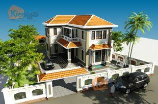 Mẫu thiết kế biệt thự đẹp 2 tầng mái thái 1