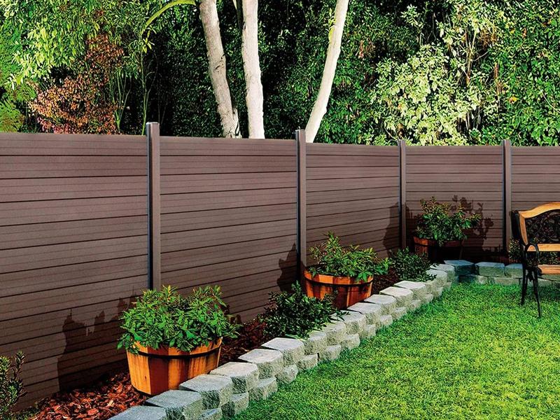 Ứng dụng của gỗ nhựa composite làm tường rào