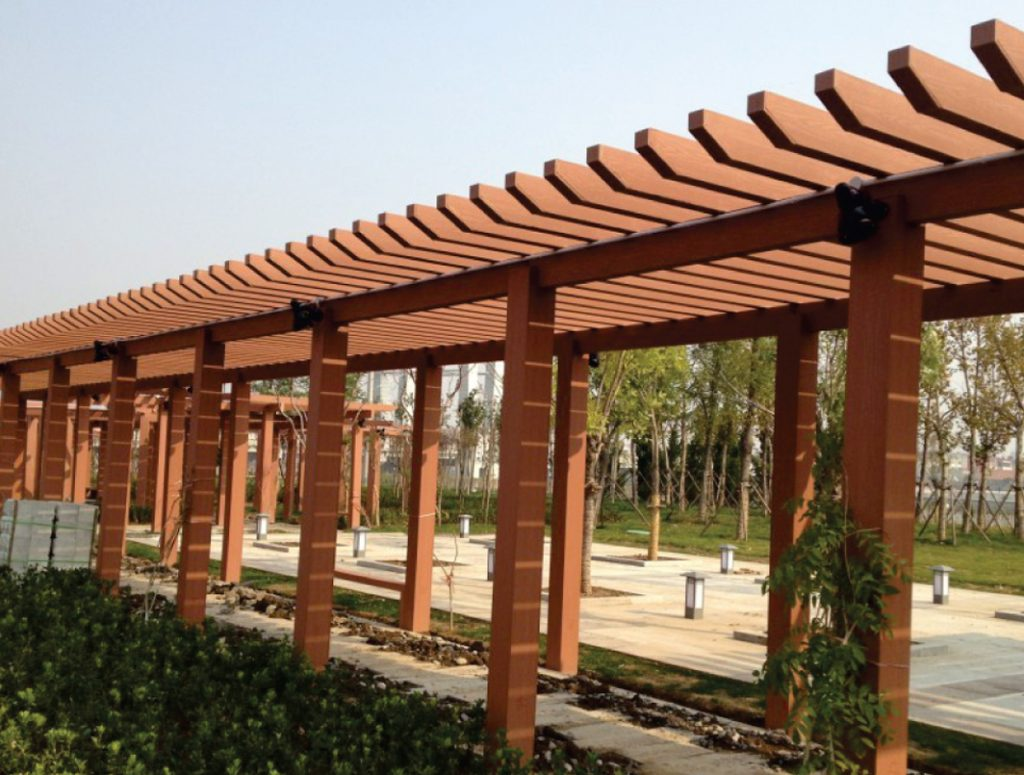 Ứng dụng của gỗ nhựa composite làm dàn hoa